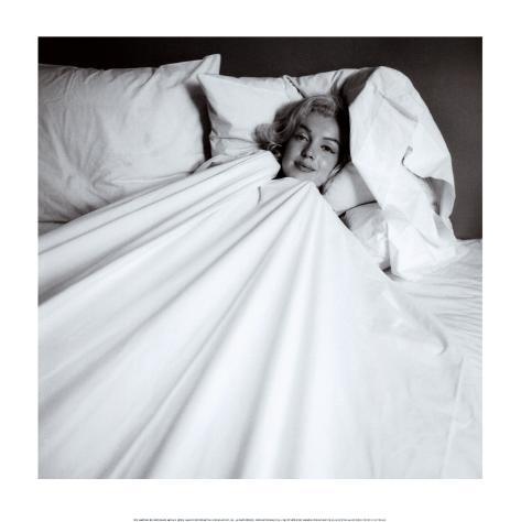 Marilyn in Bed Art Print