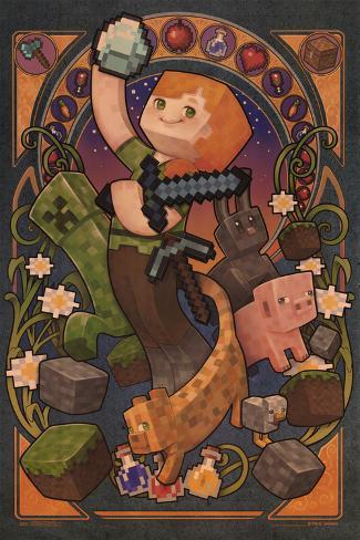 Minecraft- Alex Nouveau Poster