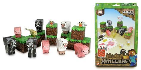 minecraft animal mobs 30 piece set paper craft craft supplies na