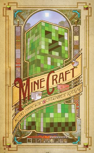 Minecraft Computronic Premium Poster Poster