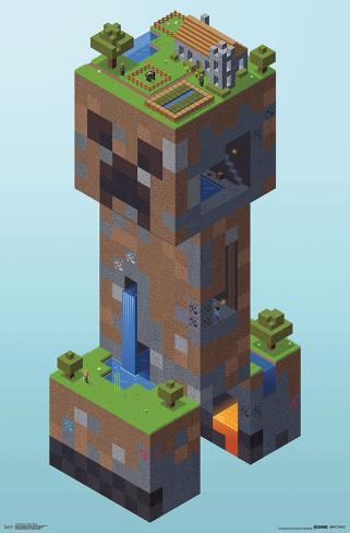 Minecraft Creeper Village Photo At Allposters Com