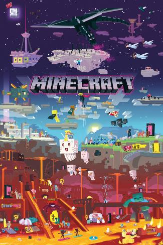 Minecraft - World Beyond Lámina en AllPosters.es