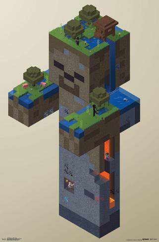 オールポスターズの minecraft zombie swamp 高画質プリント
