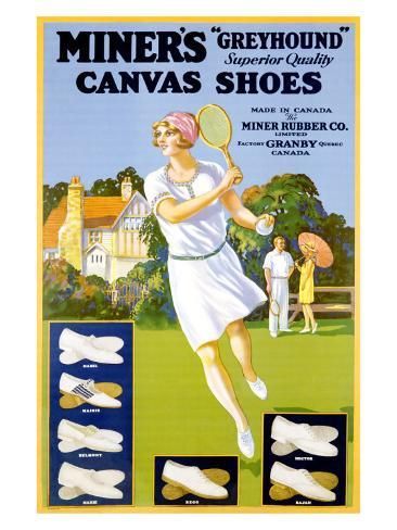 Miner's Canvas Shoes Giclee Print