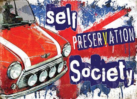 Mini car - Self Preservation Society Targa di latta