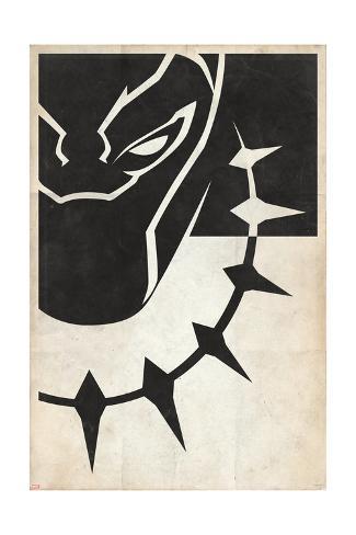 Minimal Black Panther Art Print