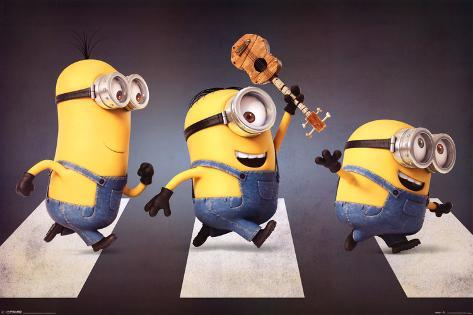 Minions - Abbey Road Pôster