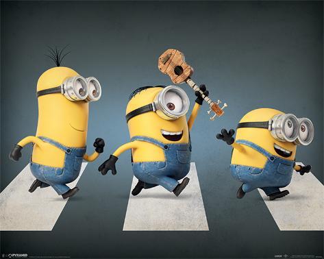 Minions - Abbey Road Mini Poster