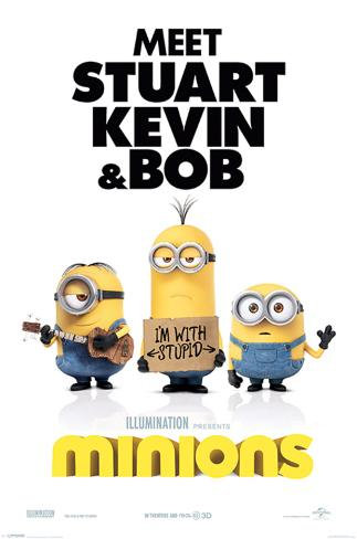 Minions (I'm With Stupid) Poster