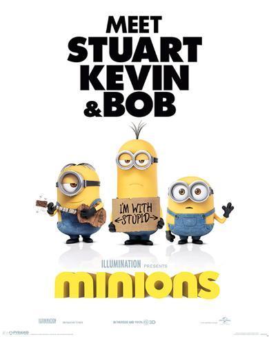 Minions (I'm With Stupid) Mini poster
