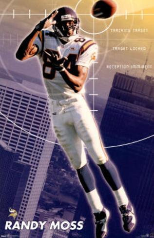 Minnesota Vikings Randy Moss Poster