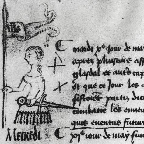 Minutes of Parliament of Paris from May 10, 1429, Where Joan of Arc's Giclee Print