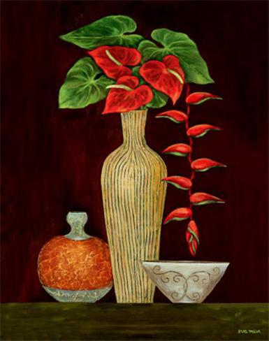 Red Anthuriums Art Print