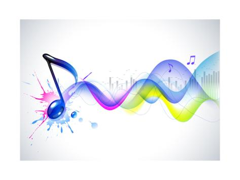 Note And Sound Waves Music Background