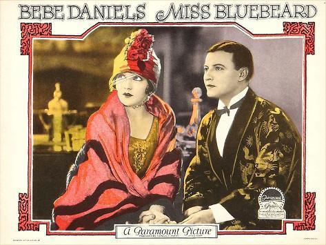 MISS BLUEBEARD, from left: Bebe Daniels, Robert Frazer, 1925 Art Print