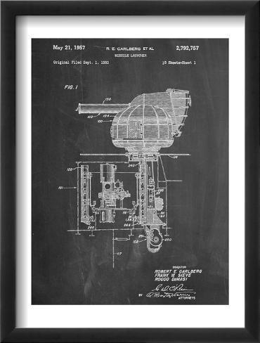 Missile Launcher Patent Framed Art Print