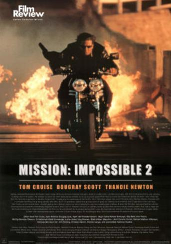 Mission: Impossible 2 Movie Tom Cruise Poster ポスター