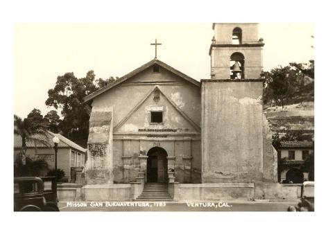 Mission San Buenaventura, Ventura Art Print