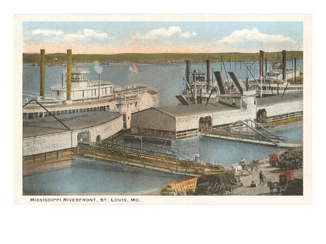 Mississippi Riverfront, St. Louis, Missouri Art Print