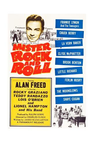 Mister Rock and Roll, Alan Freed, Little Richard with his band, 1957 Art Print