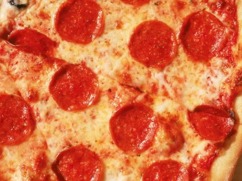 Close-up of Pepperoni Pizza Photographic Print