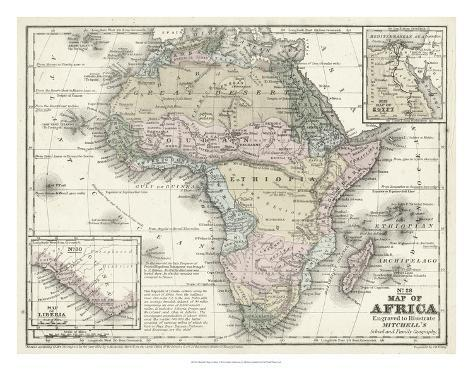 Mitchell's Map of Africa Giclee Print