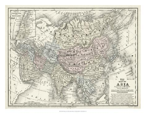 Mitchell's Map of Asia Giclee Print