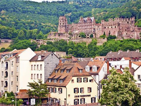 Heidelberg Castle, Heidelberg, Germany Photographic Print
