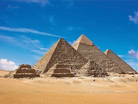 Pyramids, Giza, Cairo, Egypt Stampa fotografica