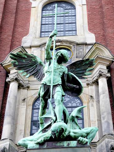 sculpture of the archangel michael defeating satan st michael s