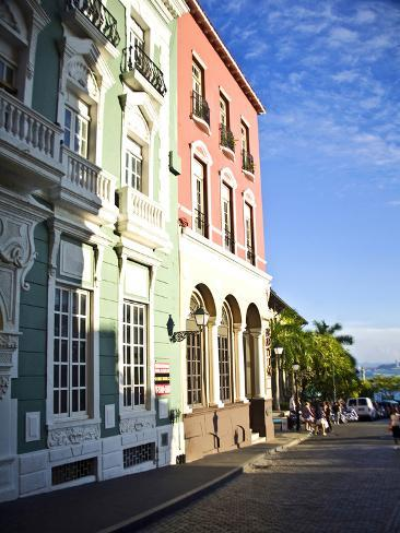 Typical Colonial Architecture, San Juan, Puerto Rico, USA, Caribbean Photographic Print