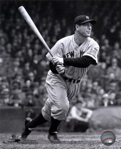 MLB Lou Gehrig 1938 Action Photo