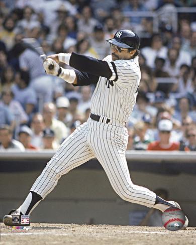 MLB Reggie Jackson - Batting Action Photo