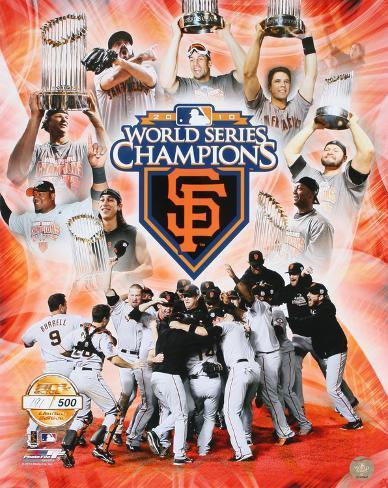 MLB San Francisco Giants 2010 World Series Champions PF Gold Photo