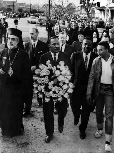 MLK Leads March for Slain Unitarian Minister 1965 Photographic Print
