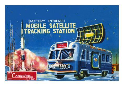 Mobile Satellite Tracking Station Stretched Canvas Print