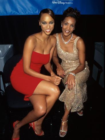 Model Tyra Banks and Actress Vivica A. Fox at Espn Awards Stretched Canvas Print