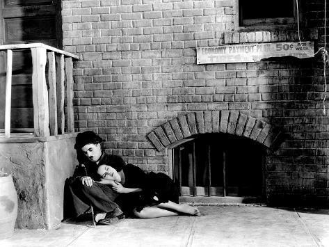 Modern Times, Charles Chaplin, Paulette Goddard, 1936 Foto