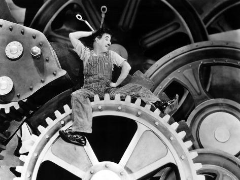 Modern Times, Charlie Chaplin, 1936 Photo