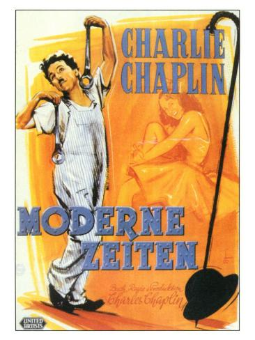 Modern Times, German Movie Poster, 1936 Art Print