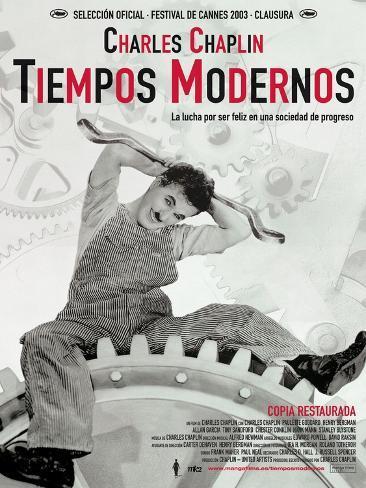 Modern Times, Spanish Movie Poster, 1936 Impressão artística