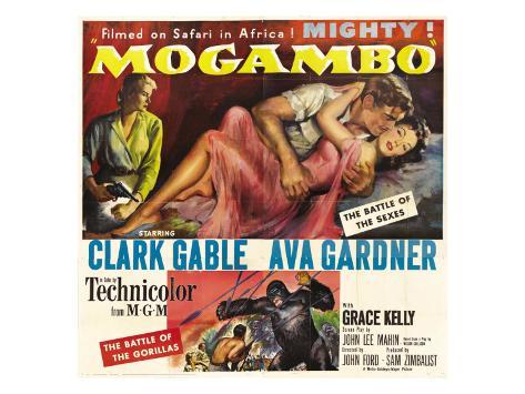 Mogambo, Grace Kelly, Clark Gable, Ava Gardner, 1953 Photo