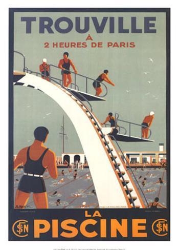 Trouville, La Piscine Art Print
