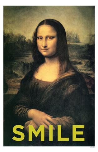 Mona Lisa Smile Masterprint