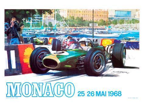 Monaco 1968 Giclee Print