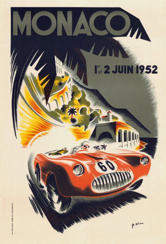 Monaco Grand Prix, 1952 Art Print