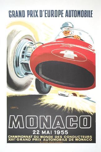 Monaco Grand Prix, 1955 Art Print