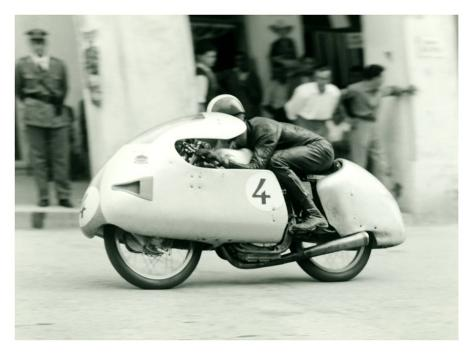 Mondial Motorcycle GP Dustbin Giclee Print