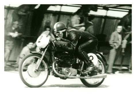 Mondial Motorcycle Race Giclee Print