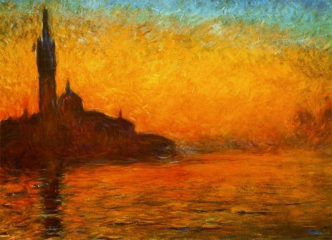 Monet - Venice by Twilight Giant Poster